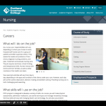Portland Community College Nursing Career Page